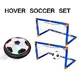 Shayson Hover Soccer Ball, Pallone da Calcio Air Power con luci a LED, Giocattoli per Bambini Training Football Indoor Outdoor con 2 Porte