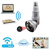 Kamera-Licht, Zwei-Wege-Konversationsanwendung Home-Überwachungskamera WI-FI-Bewegungserkennung, Aktivitätsalarm für Baby/Ältere/Haustier/Nanny-Monitor
