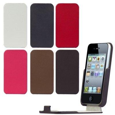 Logotrans Slip In Schutzhülle für Apple iPhone 4 rot Dunkelbraun