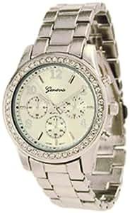 Geneva Platinum 9073.Silver Femme Montre