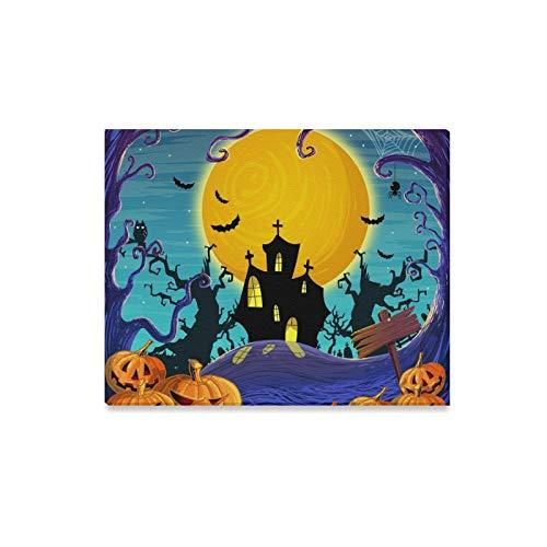 lerei Digitale Malerei Halloween Thema Drucke Auf Leinwand Das Bild Landschaft Bilder Öl Für Zuhause Moderne Dekoration Druck Dekor Für Wohnzimmer ()