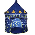 Portable Foldable Play Tent Prince Folding Tent Kids Children Boy Castle Cubby Play House Kids Gifts Outdoor Toy Tents