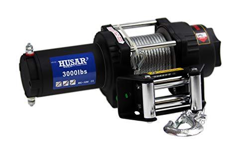 Elektrische Seilwinde 12 V mit Fernbedienung Motorseilwinde Zugkraft 1360 kg 3000 lbs Seilzug -