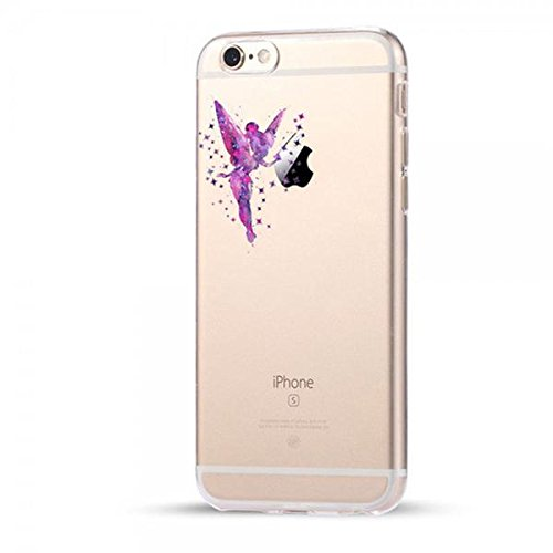 Disney Tinkerbell Schutzhülle Appel Iphone Serie TPU transparent Silikon Case Appel Iphone 5/5S/5SE Comic Cartoon Hülle -AcAccessoires #0028 (Iphone 5/5S/5SE)