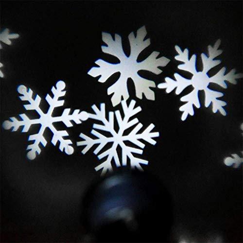 Proyector de los copos de nieve blanco de la Navidad Proyector giratorio...