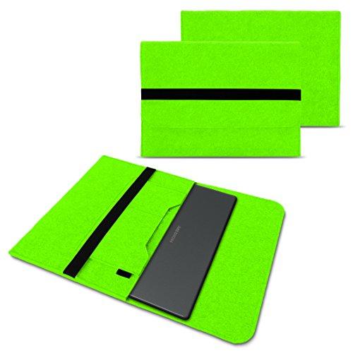 NAUC Medion Akoya E4254 S3409 S4219 E3216 E3215 Tasche Hülle Filz Sleeve Case Schutzhülle Notebook Cover Etui, Farben:Grün