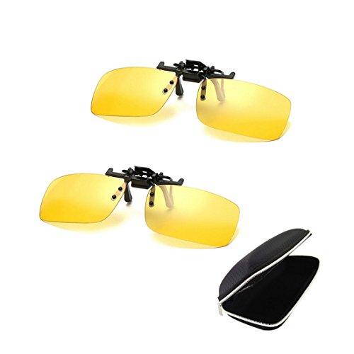 2 paires de lunettes de soleil neutres clip nuit vision polariseur anti-éblouissement UV400 conduite protectrice Parker tir ski sports de plein air nuit vision lunettes hommes et femmes