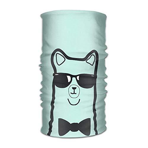 VTXWL Unisex Stylish Cartoon Alpaca Llama Quick Dry Microfiber Headwear Outdoor Magic Bandana Neck Gaiter Head Wrap Headband Scarf Face Mask Ultra Soft Elastic Handscarf -