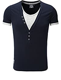 Carisma 2in1 T-Shirt Deep V-Neck Schwarz
