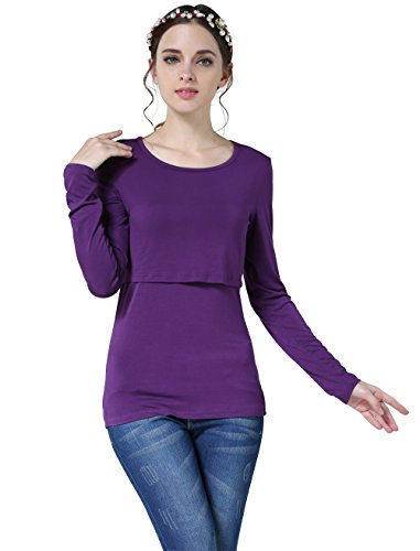 Emotion Moms Damen T-Shirt Gr. S, violett (Mom Maternity T-shirt)