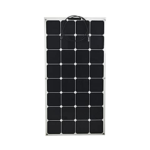 VIKOCELL 100W 18V Bendable Flexible Monocrystalline Silicon Solar Panel Battery Charger for RV Boat Cabin Tent Car(pack of 2)