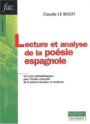 Lecture et analyse de la poésie espagnole