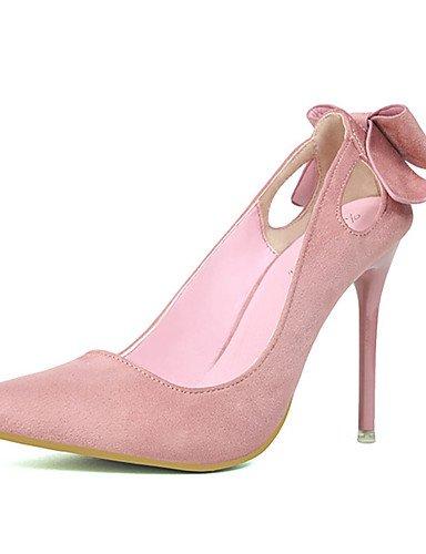GS~LY Damen-High Heels-Lässig-Vlies-Stöckelabsatz-Absätze-Schwarz / Rosa / Rot / Grau / Orange black-us6.5-7 / eu37 / uk4.5-5 / cn37