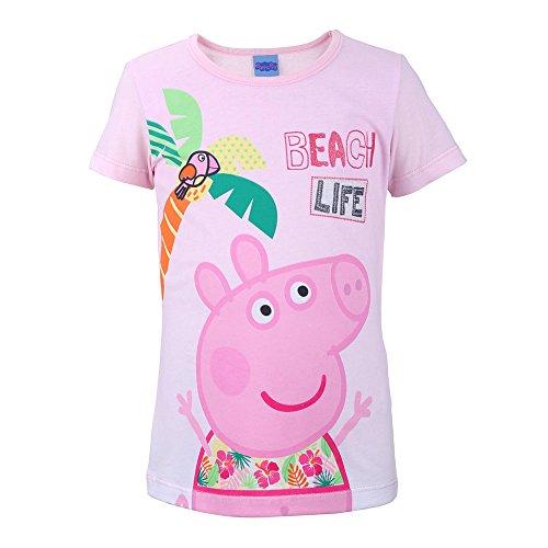 Peppa Pig Niñas Camiseta, T-Shirt, Rosa, Talla 92, 2 años