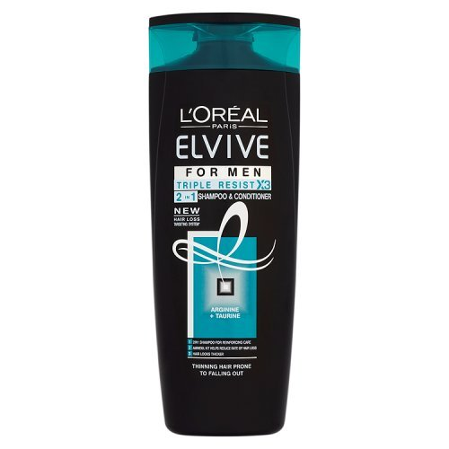 L'Oreal Elvive Men Triple Resist 2 in 1 400ml Pack of 6