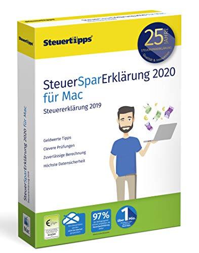 4125LK4GWVL - SteuerSparErklärung 2020, Schritt-für-Schritt Steuersoftware für die Steuererklärung 2019, Steuer CD-Rom für Mac: OS X (ab 10.12 Sierra)
