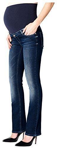 ESPRIT Maternity Umstandsjeans Damen Boot-Cut / Flared-Leg Umstands Jeans U8C010 - Pocket Maternity Jeans Boot Cut