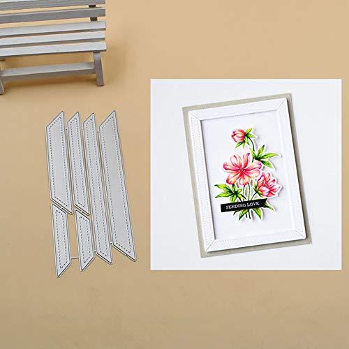 Troqueles Muzhili3, marco de metal para recortes, tarjetas de papel, álbumes de recortes, arte de fotos, plantilla para manualidades, color plateado