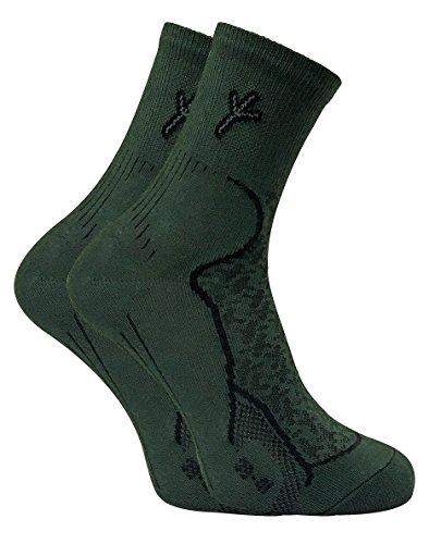 Dr Hunter - 2 Pares Hombre Cómodo Antibacterianos Trekking Senderismo Algodón Calcetines para Andar y Pescar y Caza (39-41 eur, DHS)