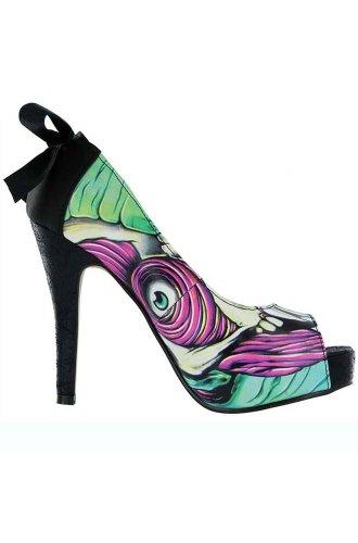 Iron Fist  Skin Crawler Peep Toe Platform,  Damen Peep Toes Türkis