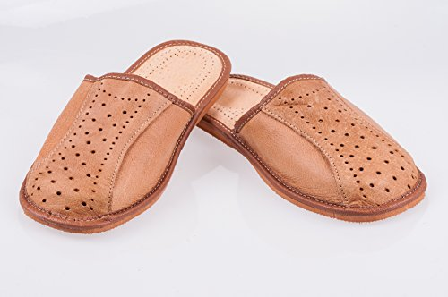 Men`s handmade Leather Slippers 100% Natural Leather Size UK 6,7,8,9,10,11,12