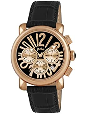 Pocket Rond Medio Damen-Armbanduhr Chronograph Quarz Leder PK2052