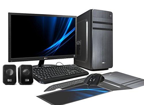 RGDigital - Ordenador de sobremesa Myka I3 Professional Line, Intel i3 Core i3-7100 7.ªgeneración, hasta 3,90GHz, tarjeta de vídeo integrada Intel Graphics 6304K de alta resolución 1080p Full HD, carcasa ATX con sistema operativo Windows 10 Professional a 64bits original, WiFi a 150MB, disco duro de 1TB SATA III, RAM de 8GB DDR4 2133MHz, alimentador de 500W ATX, grabadora DVD, MB Micro ATX, entradas DVI-VGA, HDMI, USB  2.0 y 3.0, vídeo, LAN + Monitor LED de 22pulgadas VGA + Teclado y ratón por USB + Altavoces para audio completos, para estudio, oficina, escuela y empresas