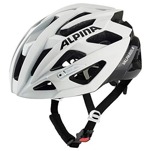 Alpina Unisex– Erwachsene VALPAROLA Fahrradhelm, White-Black, 55-59 cm