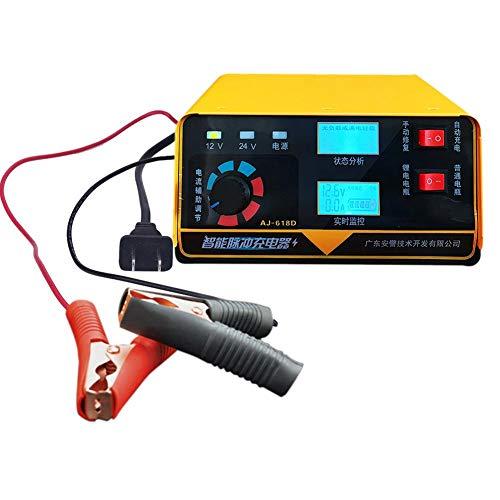 ATpart Caricabatteria per Auto Moto Caricabatterie per Auto 12V 24 V e manutentore, Salvataggio e Recupero batt
