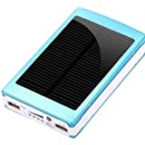 30000mAh Solar Charger Battery Power Bank For iPhone6 Smartphone --- Color:Red -Motif