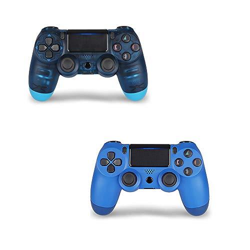 PS4 Wireless Controller – DualShock 4 Fernbedienung mit USB-Kabel für Sony Playstation 4 / PS4 Pro/Slim blau Midnight-Blue