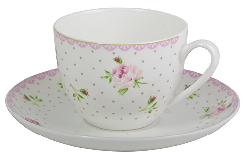 IB Laursen Tasse und Untertasse Cottage Rosa Rose Cottage