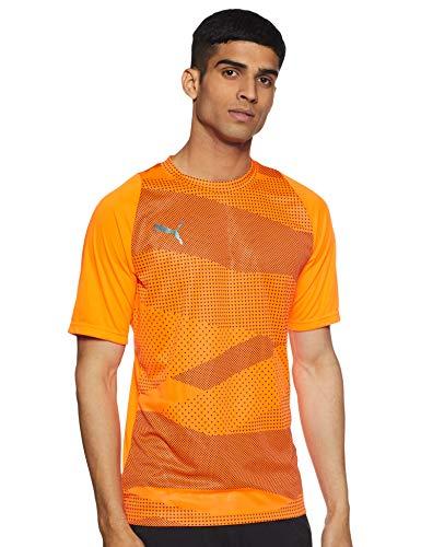 PUMA Herren ftblNXT Graphic Shirt Core T, Orange (Shocking Orange-Puma Black), L