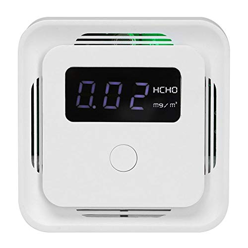 Garosa Luftqualitätsmonitor Tragbarer Digitaler Formaldehyddetektor Professioneller HCHO TVOC PM2.5 Detektor Luftqualitätsprüfer Analysator Haushalt(WiFi) -