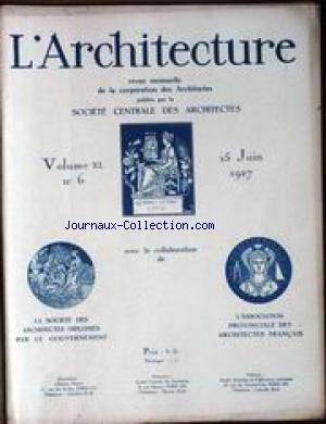ARCHITECTURE (L') [No 6] du 15/06/19...