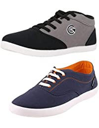 Globalite Crux & Enigma Casual Shoe Combo (2 in 1) - Walk and Earn Money with The BolttCoin App