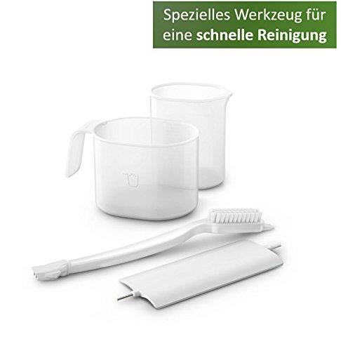 Philips HR2333/12 Pastamaker (vollautomatisierte Nudelmaschine mit 4 Formscheiben) weiß/grau