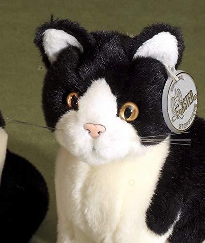 Förster Stofftiere Katze schwarz/weiß sitzend mini 16cm #3476