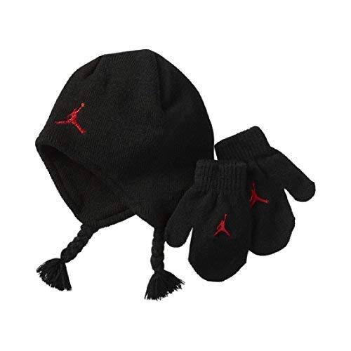 Nike Air Jordan schwarz Knit Mütze und Fäustlinge Set (12/24Monate) - Boy-mütze Baby Fäustlinge Und