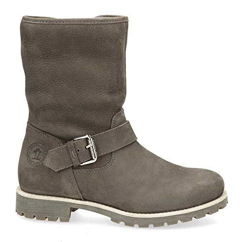 Panama Jack Damen Winterstiefel Singapur Igloo,Frauen Winter-Boots,Fellboots,Lammfellstiefel,Fellstiefel,gefüttert,warm,Grau,EU 41