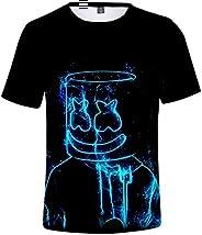 FLYCHEN Camiseta para Niños 3D Impresión Gráfica DJ Música Electrónica Cool Hip Hop Boy's Fantastic S