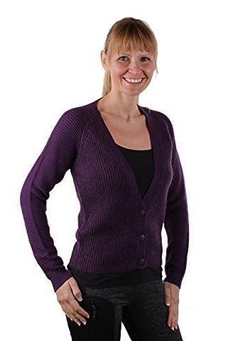 Timberland Damen Strickjacke Cardigan PHILLIP BROOK Mohair Gr. S (S, Purple)
