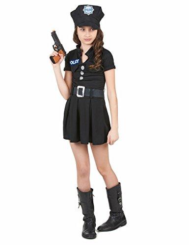 Polizei-Kostüm mit Kappe für Mädchen