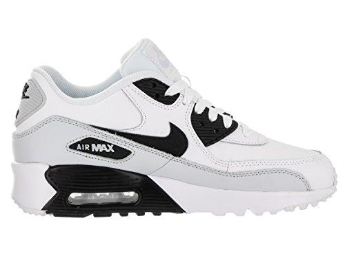 Nike - Nike Air Max 90 Leather (Gs) Shoe, Scarpe da ginnastica Unisex – Bambini White Black