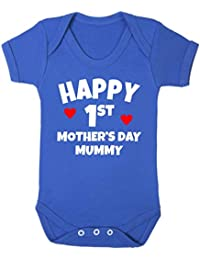 b2b6f11ef890 Purple Penguin Clothing Baby Grow - 1st Mother s Day (2)