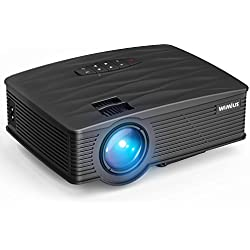 Proyector LCD 2200 Lumens, TK1000 Mini Proyector Portátil HD Proyector de Cine en Casa Soporte Video 1080P HDMI VGA USB AV SD Negro
