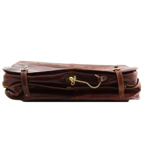 Tuscany Leather Tahiti Porta trajes en piel Marrón oscuro