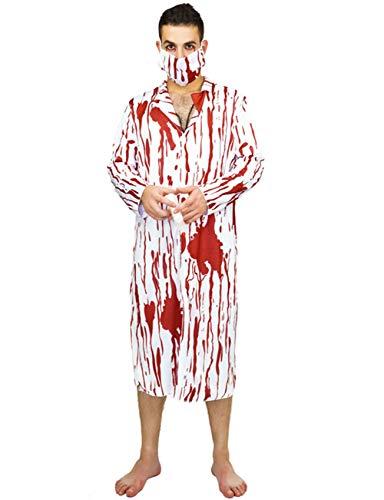 Kostüm Männlich Maskerade - TUTOU Horror Halloween, Cosplay Erwachsene Halloween Dekoration Requisiten Blut Weibliche Krankenschwester Kleidung Männlichen Chirurgen Kostüm Maskerade Cosplay Kostüm,bloodywhitecoat