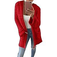 Abrigos de Mujer,Flojo Caliente Abrigo Chaqueta con Capucha con Bolsillos para Mujer,Casual Cardigans de Punto de Manga Larga Mujer Invierno por Lunule