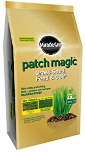 Scotts Miracle-Gro Patch Magic Grass Seed, Feed and Coir Bag, 9 kg
